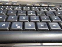 Λεπτομέρεια ενός μαύρου πληκτρολογίου υπολογιστών Στοκ Εικόνες