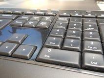 Λεπτομέρεια ενός μαύρου πληκτρολογίου υπολογιστών Στοκ φωτογραφία με δικαίωμα ελεύθερης χρήσης