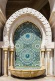 Λεπτομέρεια ενός μουσουλμανικού τεμένους στη Καζαμπλάνκα Στοκ Εικόνες