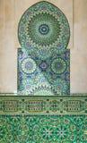 Λεπτομέρεια ενός μουσουλμανικού τεμένους στη Καζαμπλάνκα στοκ φωτογραφία με δικαίωμα ελεύθερης χρήσης