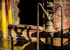 Λεπτομέρεια ενός ναού hinduist σε Bhaktapur Στοκ Φωτογραφία