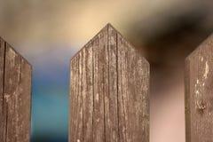 Λεπτομέρεια ενός ξύλινου φράκτη Στοκ φωτογραφία με δικαίωμα ελεύθερης χρήσης