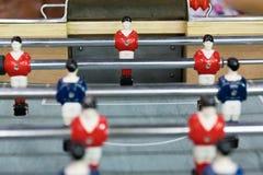 Λεπτομέρεια ενός παιχνιδιού επιτραπέζιου ποδοσφαίρου Στοκ φωτογραφία με δικαίωμα ελεύθερης χρήσης