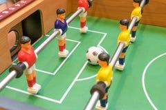 Λεπτομέρεια ενός παιχνιδιού επιτραπέζιου ποδοσφαίρου Στοκ Εικόνα