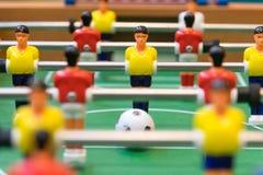 Λεπτομέρεια ενός παιχνιδιού επιτραπέζιου ποδοσφαίρου Στοκ Φωτογραφίες