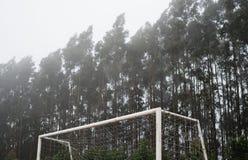 Λεπτομέρεια ενός στόχου ποδοσφαίρου Στοκ Εικόνες