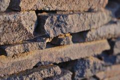 Λεπτομέρεια ενός τοίχου πετρών Στοκ Εικόνα
