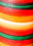 Λεπτομέρεια ενός χρωματισμένου βάζου, ζωηρή χρωματισμένη σύσταση Στοκ Εικόνες