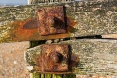 Λεπτομέρεια ενός groyne Στοκ εικόνα με δικαίωμα ελεύθερης χρήσης