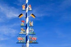 Λεπτομέρεια ενός Maypole στο Μόναχο στοκ εικόνα με δικαίωμα ελεύθερης χρήσης