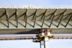Λεπτομέρεια εργοτάξιων οικοδομής γεφυρών Στοκ εικόνα με δικαίωμα ελεύθερης χρήσης