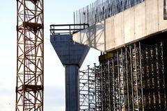 Λεπτομέρεια εργοτάξιων οικοδομής γεφυρών Στοκ Εικόνα