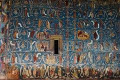 Λεπτομέρεια ζωγραφικής εκκλησιών Voronet Στοκ φωτογραφία με δικαίωμα ελεύθερης χρήσης
