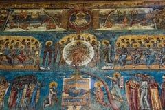 Λεπτομέρεια ζωγραφικής εκκλησιών Voronet Στοκ φωτογραφίες με δικαίωμα ελεύθερης χρήσης