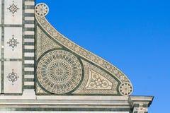 Λεπτομέρεια διακοσμήσεων εκκλησιών santa novella της Μαρίας Στοκ εικόνα με δικαίωμα ελεύθερης χρήσης