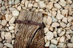 Ο ξύλινοι Stone και σίδηρος στοκ εικόνες