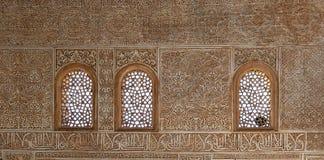 Λεπτομέρεια ισλαμικού (μαυριτανικός) tilework Alhambra, Γρανάδα, Ισπανία Στοκ Εικόνες