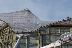 Λεπτομέρεια κατασκευής χάλυβα της στέγης γυαλιού στο CE του Μόναχου Ολυμπία Στοκ εικόνα με δικαίωμα ελεύθερης χρήσης