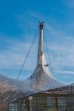 Λεπτομέρεια κατασκευής χάλυβα της στέγης γυαλιού στο CE του Μόναχου Ολυμπία Στοκ φωτογραφία με δικαίωμα ελεύθερης χρήσης