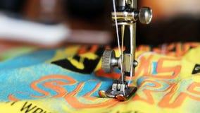 Λεπτομέρεια κινηματογραφήσεων σε πρώτο πλάνο της ράβοντας μηχανής Στοκ Εικόνες