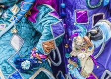 Λεπτομέρεια κοστουμιών - Annecy ενετικό καρναβάλι 2013 Στοκ Εικόνες