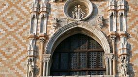 Λεπτομέρεια κτηρίων από Doges το παλάτι στο τετράγωνο SAN Marco, Βενετία, Ιταλία 4K απόθεμα βίντεο