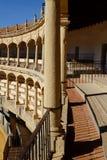 Λεπτομέρεια μέσα σε Plaza de toros de Ronda Στοκ Εικόνα