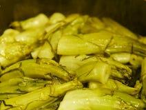 λεπτομέρεια μαγειρεμμένος puntarelle στοκ φωτογραφία με δικαίωμα ελεύθερης χρήσης