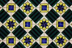 Λεπτομέρεια μερικών χαρακτηριστικών πορτογαλικών κεραμιδιών Στοκ εικόνα με δικαίωμα ελεύθερης χρήσης