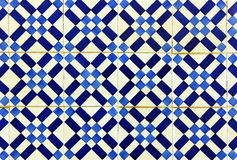 Λεπτομέρεια μερικών χαρακτηριστικών πορτογαλικών κεραμιδιών Στοκ Φωτογραφία
