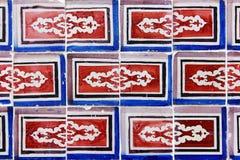 Λεπτομέρεια μερικών χαρακτηριστικών πορτογαλικών κεραμιδιών Στοκ Εικόνα