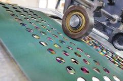 Λεπτομέρεια μηχανών εκτύπωσης όφσετ Στοκ Εικόνες