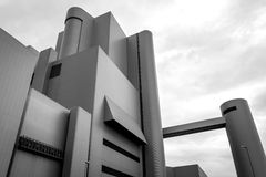 Λεπτομέρεια μιας βιομηχανικής αρχιτεκτονικής Στοκ φωτογραφίες με δικαίωμα ελεύθερης χρήσης