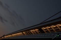 Λεπτομέρεια μιας για τους πεζούς διάβασης πεζών σε μια γέφυρα στοκ εικόνα με δικαίωμα ελεύθερης χρήσης