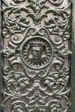 Λεπτομέρεια μιας διακοσμημένης πόρτας σιδήρου στο Άμστερνταμ στοκ εικόνες