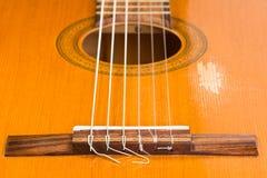 Λεπτομέρεια μιας κιθάρας Στοκ Φωτογραφίες