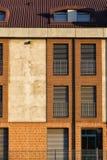 Λεπτομέρεια μιας σύγχρονης πρόσοψης της οικοδόμησης Στοκ Φωτογραφία