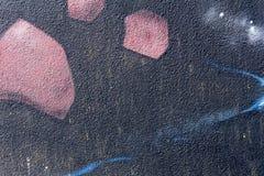 Λεπτομέρεια μιας τέχνης γκράφιτι σε έναν τοίχο Στοκ Εικόνα