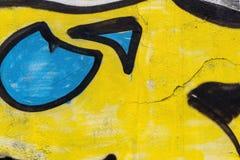 Λεπτομέρεια μιας τέχνης γκράφιτι σε έναν τοίχο Στοκ εικόνα με δικαίωμα ελεύθερης χρήσης
