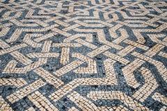 Λεπτομέρεια μιας χαρακτηριστικής πορτογαλικής πέτρας Στοκ Εικόνες