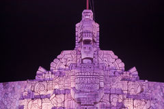 Λεπτομέρεια μνημείων σημαιών που φωτίζεται, Μέριντα Μεξικό Στοκ φωτογραφία με δικαίωμα ελεύθερης χρήσης