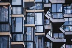 Λεπτομέρεια μπαλκονιών, Vina del Mar Στοκ Φωτογραφία