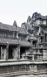 Λεπτομέρεια ναών ορόσημων Ankgor wat η διάσημη siem πλησίον συγκεντρώνει την Καμπότζη Στοκ Φωτογραφία