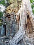 Λεπτομέρεια ναών σε Ankor Thom Στοκ Φωτογραφίες