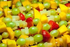 Λεπτομέρεια οβελιδίων φρούτων Στοκ εικόνα με δικαίωμα ελεύθερης χρήσης