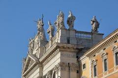 Λεπτομέρεια παπικού Archbasilica του ST John Lateran στη Ρώμη Στοκ Φωτογραφίες