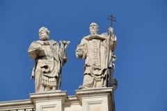 Λεπτομέρεια παπικού Archbasilica του ST John Lateran στη Ρώμη Στοκ Εικόνες