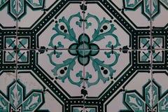 Λεπτομέρεια παραδοσιακά portugese κεραμικά κεραμίδια Στοκ εικόνα με δικαίωμα ελεύθερης χρήσης