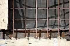 Λεπτομέρεια παραθύρων τοίχων πλέγματος οθόνης Στοκ Φωτογραφίες