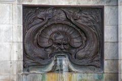 Λεπτομέρεια πηγών νερού Merman στοκ εικόνες